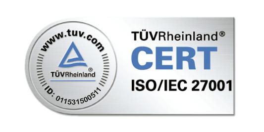 phi Hosting Jülich| Zertifizierung  TÜV ISO CERT
