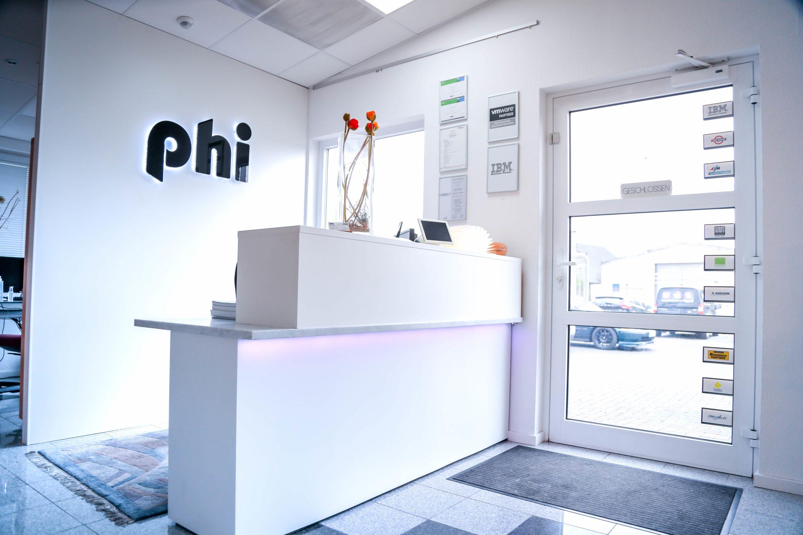 phi Hosting Jülich | Empfang Unternehmensgebäude Cremer Zertifikate Server